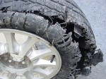 Worn out tire